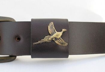Pheasant belt by Royden Leather Belts