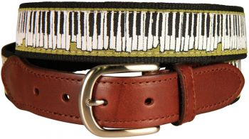 Belted Cow Piano Keys leather Tab Belt
