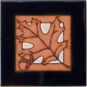 Pin Oak Leaf 6 x6 Ceramic Tile by Maanum Custom Tiles