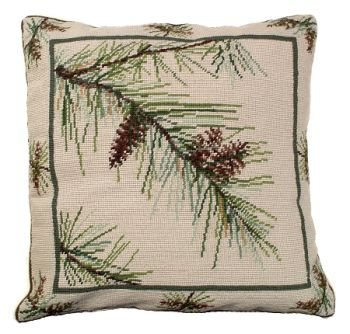 Bloomers 1 Needlepoint Pillow by Michaelian Home
