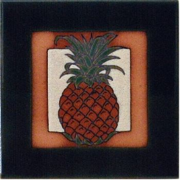 Pineapple 6 x 6 ceramic tile by Maanum Custom Tiles