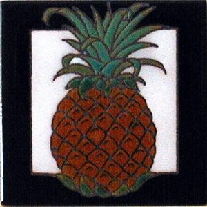 Pineapple Ceramic 4 x 4 Tile by Maanum