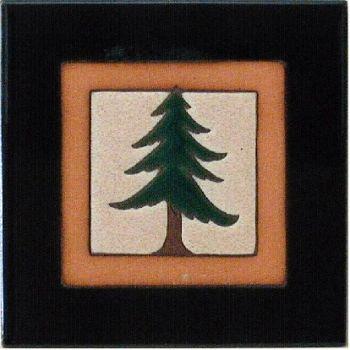 Pinetree One 6 x 6 Ceramic Tile by Maanum Custom Tiles