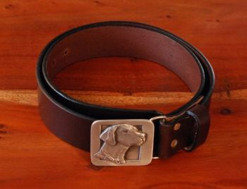 Pointer Belt - DePaolis pewter pointer buckle and Royden Leather Belts