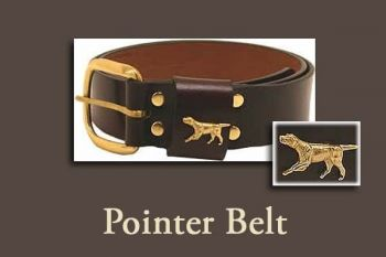 "1 1/4"" wide Pointer Belt by Royden Leather Belts"