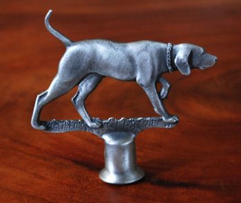 Pointer pewter lamp finial by Sid bell Originals