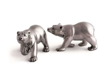 Polar Bear pewter salt and pepper set by Vagabond House
