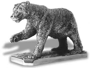 Polar Bear Hood Ornament or Car Mascot by Louis Lejeune comes in chrome, bronze, enamel or gold plated