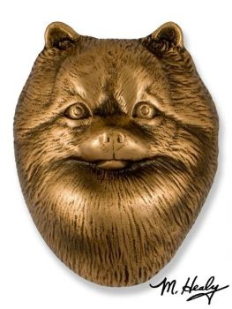 Pomeranian Door Knocker by Michael Healy