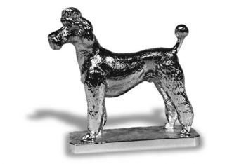Poodle French Clip Ornament or Car Mascot by Louis Lejeune comes in chrome, bronze, enamel or gold plated