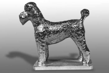 Poodle Puppy Clip Hood Ornament or Car Mascot by Louis Lejeune comes in chrome, bronze, enamel or gold plated