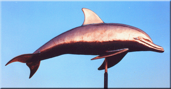 Porpoise Copper Weathervane by Barry Norling