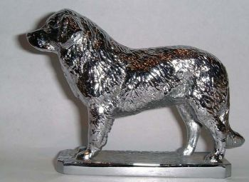 Pyrenean Mountain Dog Hood Ornament or Car Mascot by Louis Lejeune comes in chrome, bronze, enamel or gold plated