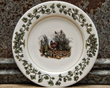 Quail in the Bush Salad Plate Plantation China by WM Lamb and Son