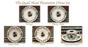 English Pointer Plantation China Dinnerware Set