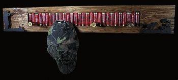 Quail Hunter Shotgun Shell Rack by Bruce Mrachek