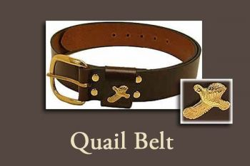 "Quail belt - 1 1/4"" wide by Royden Leather Belts"