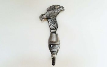 Quail pewter coat hook by Sid Bell Originals