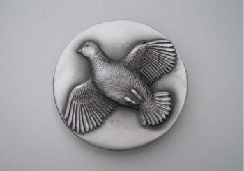 Quail Pewter Sid Bell Buckle