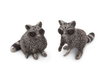 Raccoon pewter salt and pepper set by Vagabond House