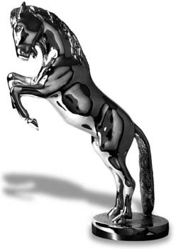 Rearing Horse Hood Ornament or Car Mascot by Louis Lejeune comes in chrome, bronze, enamel or gold plated