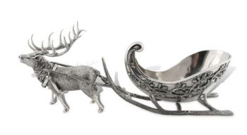 Reindeer Sleigh Centerpiece by Vagabond House