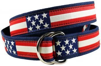 Retro Flag D-Ring Belt by Belted Cow