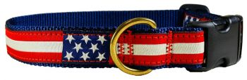Belted Cow Retro Flag one inch dog collar