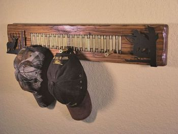 Rifle Shell Deer Hunter Coat Rack by Bruce Mrachek
