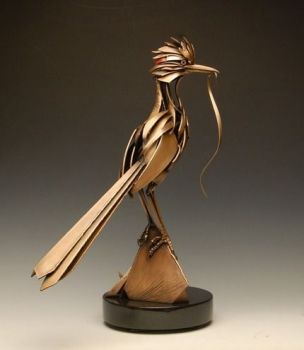 Greater Roadrunner is a bronze/metal sculpture by Don Rambadt