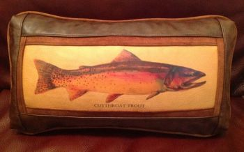 Rod Crossman Cutthroat Leather Pillow