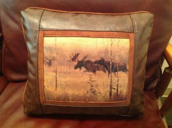 Rod Crossman Moose Leather Pillow