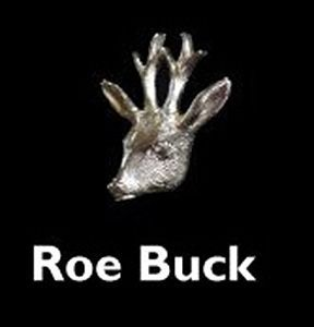 Roe Buck Head Silver Cufflinks from Louis Lejeune