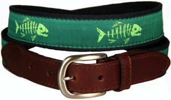 Rogue Fish Lime Apple Leather Tab Belt by Belted Cow