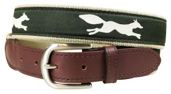 Fox Trot Leather Tab Belt by Belted Cow