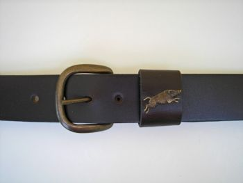 "Running Boar Belt by Royden Leather Belts - 1 1/2"" wide"