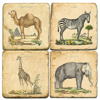 Safari Italian Marble Coasters and Giftware