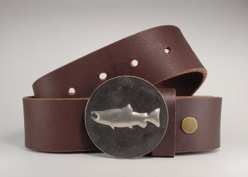 Redfish Hand Embossed Buckle and Belt by Tyger Forge