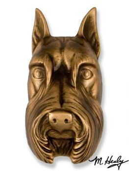 Schnauzer Door Knocker by Michael Healy