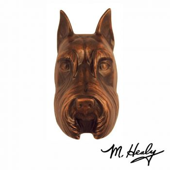 Schnauzer Door Knocker (Oiled Bronze) - Michael Healy Designs