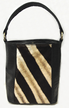 Zebra and Cape Buffalo Hide Tote