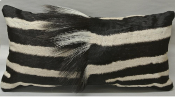 Zebra Skin Rectangular Pillow Vertical Mane