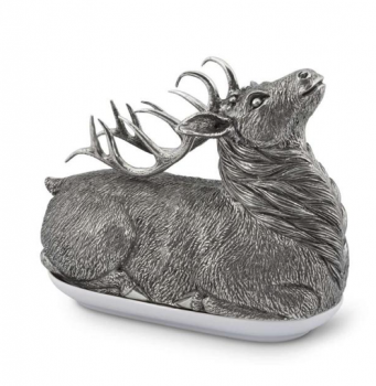 Pewter Stag Butter Dish - Vagabond House