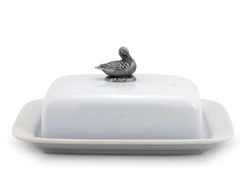 Mother Duck Stoneware Butter Dish - Vagabond House