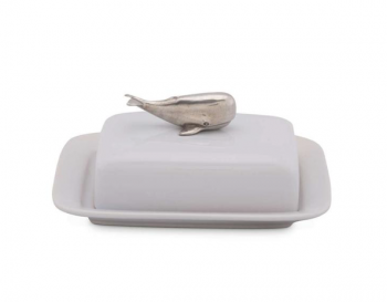 Whale Stoneware Butter Dish - Vagabond House