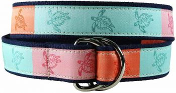 Sea Turtle D-Ring Belt by Belted Cow