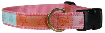 Belted Cow Sea Turtles one inch dog collar