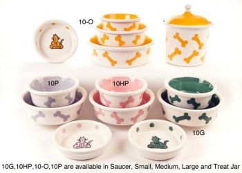 Series 10 design dog and cat bowls by Petware Pottery