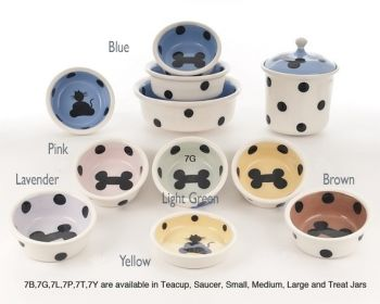 Series 6 design dog and cat bowls by Petware Pottery