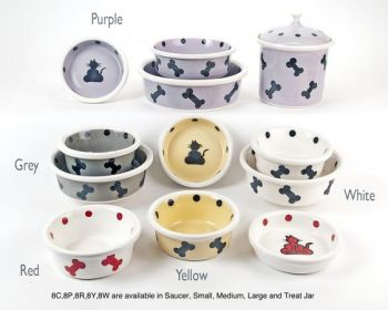Series 8 design dog and cat bowls by Petware Pottery